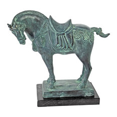 Design Toscano   Tang Dynasty Horse Cast Bronze Statue   Garden Statues And  Yard Art