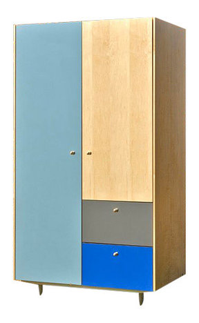 Modern Armoire Maple And Color Blocks Blue