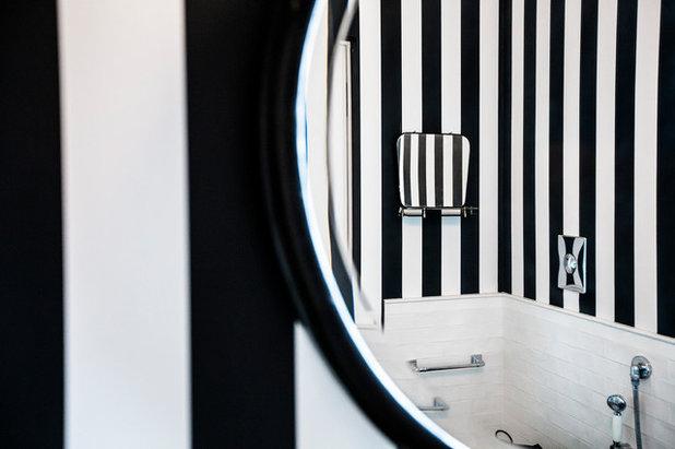 Motivi per amare il bianco e il nero anche in un piccolo bagno
