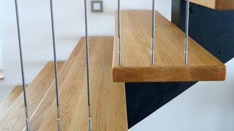 Feuersteintreppen - Treppengeländer mit Seilverspannung