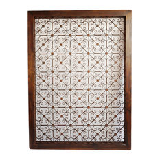 Iron and Wood Screen Panel