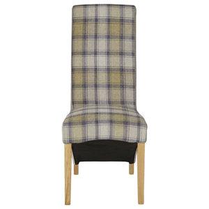 Hammersmith Tartan Dining Chair, Stone