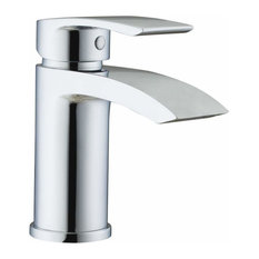 Contemporary Single Lever Basin Sink Mixer Tap With Slotted Spring Waste, Chrome