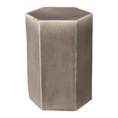 Porto Side Table, Gray Ceramic, Small