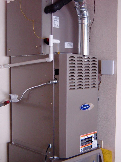 carrier infinity furnace. carrier furnace installed in garage with infinity filter system - heating and cooling e