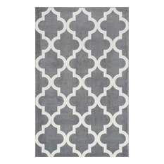 Geometric Area Rug, Gray, 3'x5'