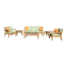 Lodge 6-Piece Outdoor Sofa, Armchair, Coffee Table and Side Tables Set