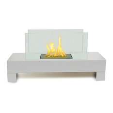 Gramercy Indoor/Outdoor Fireplace, High Gloss White Paint