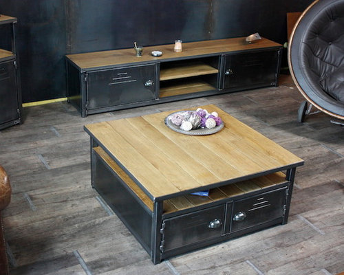 Nos tables basses de style industriel - Table basse design industriel ...