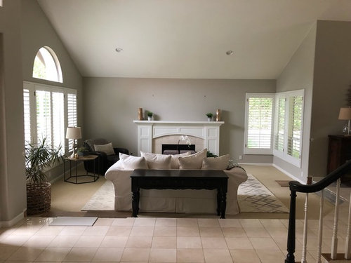 Floor Transition To Sunken Living Room