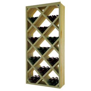 02fdeb0328 Jumbo Bin Grid 100-Bottle Wine Rack, Unstained - Transitional - Wine ...