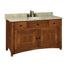 Springhill Bathroom Vanity, Nutmeg, Cherry, Wood Door