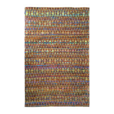 Diamond Sari Silk Area Rug, Multi Orange, 150x240 cm