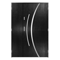 Phoenix Uno Double Front Door, Black, 140 cm