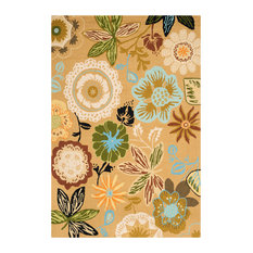 Safavieh Four Seasons Collection FRS472 Rug, Taupe/Multi, 5'x7'