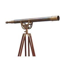 Floor Standing Antique Brass Anchormaster Telescope 65'', Vintage Telescope