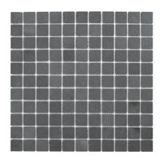 Nairn Mosaic Wall and Floor Tile, Andesite, Set of 10