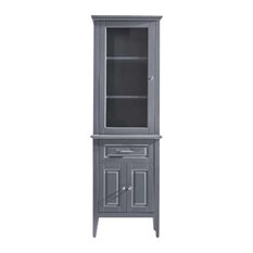 "Virtu USA Walton 24"" Modern Side Cabinet, Gray"