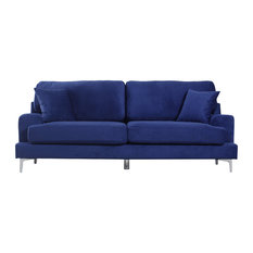 divano roma furniture ultra modern plush velvet living room sofa blue sofas