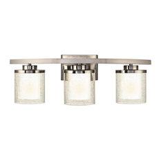 Horizon 3 Light Bathroom Vanity Light in Satin Nickel