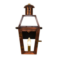 50 most popular rustic outdoor lights for 2018 houzz the coppersmith the coppersmith georgetown petite collection 155 x 8 electric aloadofball Gallery