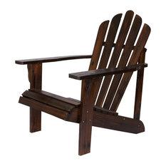 Westport Adirondack Chair, Burnt Brown