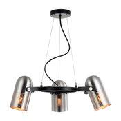 """Loki 22"""" 3-Light Adjustable Metal LED Pendant, Brushed Nickel"""