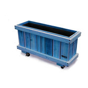 Cafe 47 Black Rolling Planter, Blue