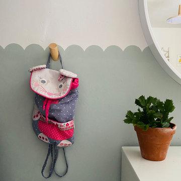 Girls Bedroom - Scalloped walls
