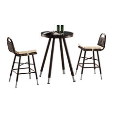 Fatsia Modern Outdoor Bar Set For Two