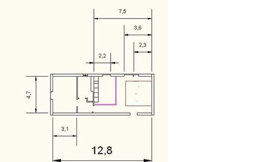 Creare bagno in camera matrimoniale 3 mq progetto 2 - Progetto bagno 2 mq ...