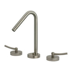 Whitehaus WH81214-C Widespread Lever Handle Bathroom Faucet In Polished Chrome