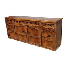 Ontario Hand Carved Solid Wood Extra Long Buffet Cabinet