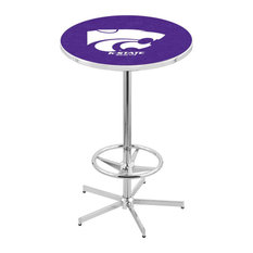 L216 - 42-inch Chrome Kansas State Pub Table By Holland Bar Stool Co.