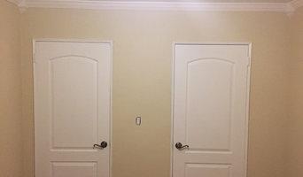 Whitestone Painting, skim coating, hardwood floor refinish.