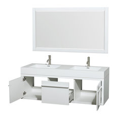 wyndham collection axa 60 double vanity integrated sinks glossy white 58 - Bathroom Vanity Double