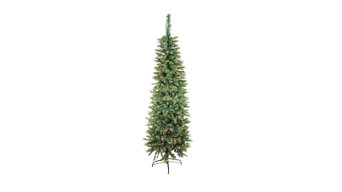 7' Pre-Lit Yorkville Pine Pencil Artificial Christmas Tree - Clear Lights