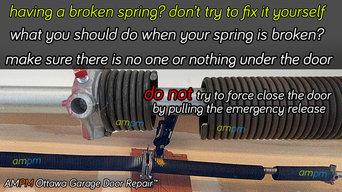 Garage door opener safety tip