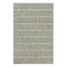 """Loloi Inc. - Loloi Rugs Isle Gray and Teal, 7'10""""x10'9"""" - Area Rugs"""