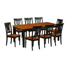 9-Piece Dining Room Set Table And 8 Wood Chairs