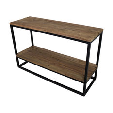 Old Wood and Iron Console Table