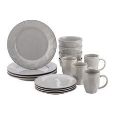 Rachael Ray Cookware - Rachael Ray Cucina 16-Piece Dinnerware Set Sea Salt Gray  sc 1 st  Houzz & 9 Inch Dinner Plate Set | Houzz