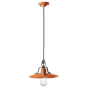 Saturno Ceiling Pendant, 1 Light, Medium, Orange