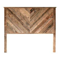 Herringbone Reclaimed Wood Headboard - Multiple Sizes - Customizable Twin