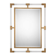 Uttermost Balkan Mirror | Modern Gold Wall Mirror