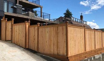 Cedar Fence and Retaining Wall