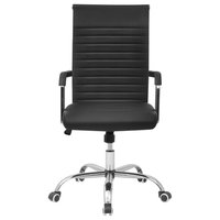 Desk Office Chair Artificial Leather, Black