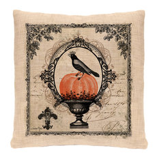 "Vintage Halloween Pillow, 18""x18"""