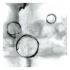 "Full Circle I Gray Fine Art Giant Canvas Print, Black, Gray, 54""X54"""