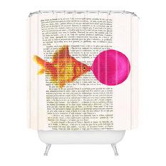 "Goldfish With Bubblegum Shower Curtain, Standard: 69""x72"""